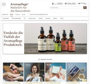 Screenshot Website aromapflege.com