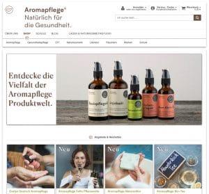 Screenshot Website aromapflege.com